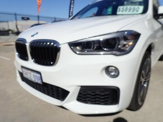 2018 BMW X1 F48 MY19 xDrive 25i M Sport White Crystal 8 Speed Automatic Wagon.