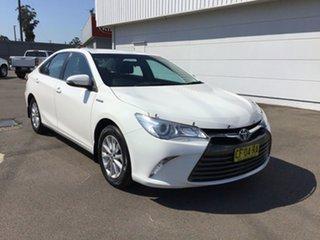 2016 Toyota Camry AVV50R Altise White 1 Speed Constant Variable Sedan Hybrid.