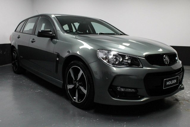 Used Holden Commodore VF II MY16 SV6 Sportwagon Black, 2016 Holden Commodore VF II MY16 SV6 Sportwagon Black Grey 6 Speed Sports Automatic Wagon