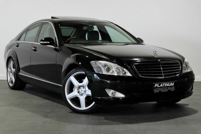 Used Mercedes-Benz S-Class W221 MY08 S350 Bayswater, 2008 Mercedes-Benz S-Class W221 MY08 S350 Black 7 Speed Automatic Sedan