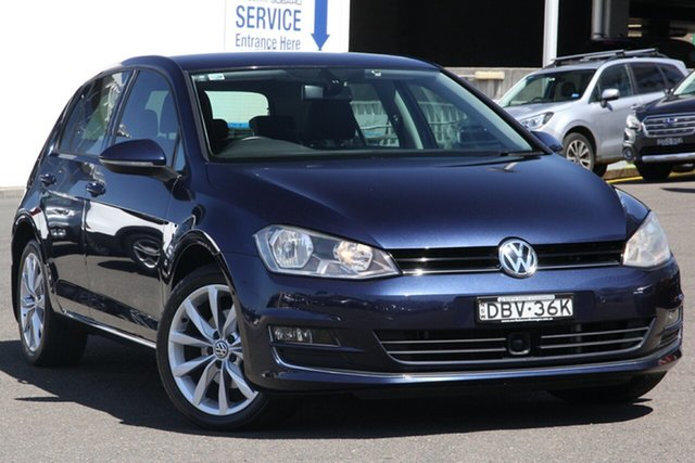 Used Volkswagen Golf VII 110TDI DSG Highline, 2013 Volkswagen Golf VII 110TDI DSG Highline Blue 6 Speed Sports Automatic Dual Clutch Hatchback