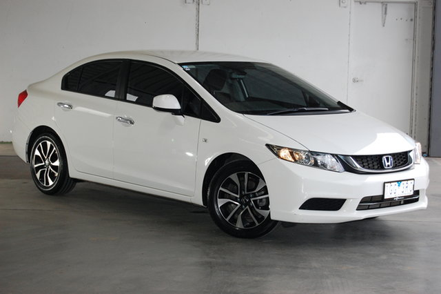 Used Honda Civic 9th Gen Ser II MY15 VTi-S, 2015 Honda Civic 9th Gen Ser II MY15 VTi-S White 5 Speed Sports Automatic Sedan