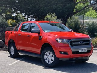 2016 Ford Ranger PX MkII XLS Double Cab True Red 6 Speed Sports Automatic Utility.