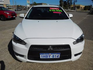 2013 Mitsubishi Lancer CJ MY13 ES White 6 Speed Constant Variable Sedan.