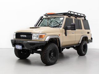 2020 Toyota Landcruiser VDJ76R GXL (4x4) Sandy Taupe 5 Speed Manual Wagon.