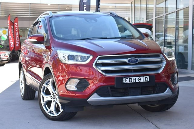 Used Ford Escape ZG 2018.00MY Titanium, 2017 Ford Escape ZG 2018.00MY Titanium Red 6 Speed Sports Automatic Dual Clutch SUV