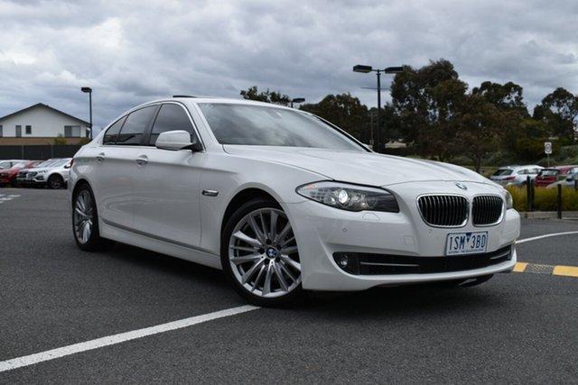Used BMW 5 Series F10 535i Steptronic, 2010 BMW 5 Series F10 535i Steptronic White 8 Speed Sports Automatic Sedan