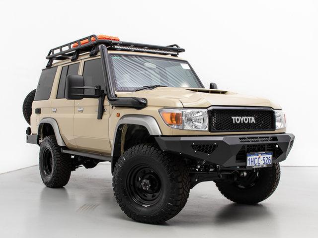 Used Toyota Landcruiser VDJ76R GXL (4x4), 2020 Toyota Landcruiser VDJ76R GXL (4x4) Sandy Taupe 5 Speed Manual Wagon