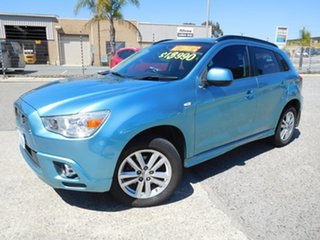 2011 Mitsubishi ASX XA MY12 2WD Blue 6 Speed Constant Variable Wagon.