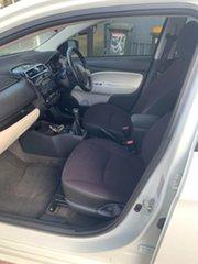 2011 Mitsubishi Mirage White 6 Speed Manual Hatchback