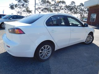 2013 Mitsubishi Lancer CJ MY13 ES White 6 Speed Constant Variable Sedan