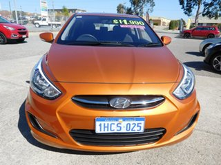 2016 Hyundai Accent RB4 MY17 Active Orange 6 Speed Manual Hatchback.