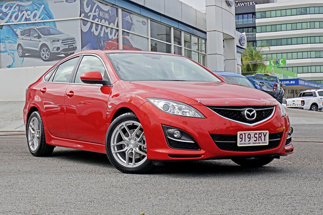 Used Mazda 6 GH1052 MY12 Touring, 2012 Mazda 6 GH1052 MY12 Touring Red 5 Speed Sports Automatic Hatchback