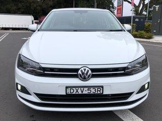 2018 Volkswagen Polo AW MY18 70TSI DSG Trendline White 7 Speed Sports Automatic Dual Clutch.