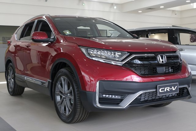 Demo Honda CR-V RW MY21 VTi 4WD LX AWD Newstead, 2020 Honda CR-V RW MY21 VTi 4WD LX AWD Ignite Red 1 Speed Automatic Wagon