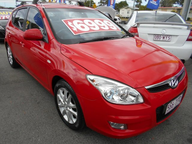Used Hyundai i30 FD MY10 SLX Springwood, 2010 Hyundai i30 FD MY10 SLX Red 5 Speed Manual Hatchback