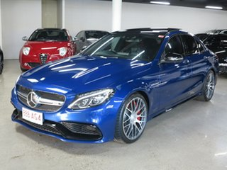 2016 Mercedes-Benz C-Class W205 806+056MY C63 AMG SPEEDSHIFT MCT S Blue 7 Speed Sports Automatic.