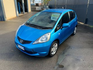 2010 Honda Jazz GE MY10 VTi Blue 5 Speed Manual Hatchback.