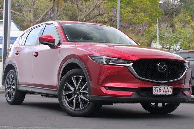 Demo Mazda CX-5 KF4W2A GT SKYACTIV-Drive i-ACTIV AWD Newstead, 2020 Mazda CX-5 KF4W2A GT SKYACTIV-Drive i-ACTIV AWD Soul Red Crystal 6 Speed Sports Automatic Wagon