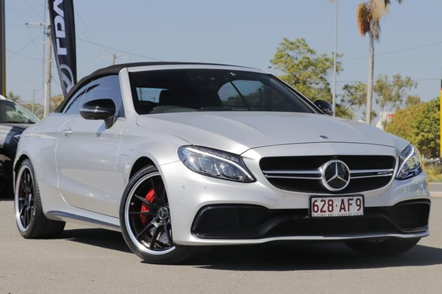 Used Mercedes-Benz C-Class A205 808MY C63 AMG SPEEDSHIFT MCT S Rocklea, 2018 Mercedes-Benz C-Class A205 808MY C63 AMG SPEEDSHIFT MCT S Silver 7 Speed Sports Automatic