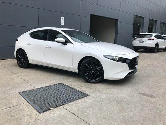 New Mazda 3 BP2HLA G25 SKYACTIV-Drive Astina, 2020 Mazda 3 BP2HLA G25 SKYACTIV-Drive Astina Snowflake White 6 Speed Sports Automatic Hatchback
