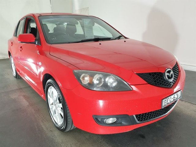 Used Mazda 3 BK10F2 Maxx Sport, 2007 Mazda 3 BK10F2 Maxx Sport Red 4 Speed Sports Automatic Hatchback