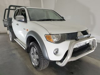 2008 Mitsubishi Triton ML MY08 GLX-R Double Cab White 5 Speed Manual Utility.
