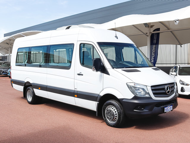 Used Mercedes-Benz Sprinter 906 MY14 516CDI LWB Hi Roof, 2016 Mercedes-Benz Sprinter 906 MY14 516CDI LWB Hi Roof White 7 Speed Automatic Van