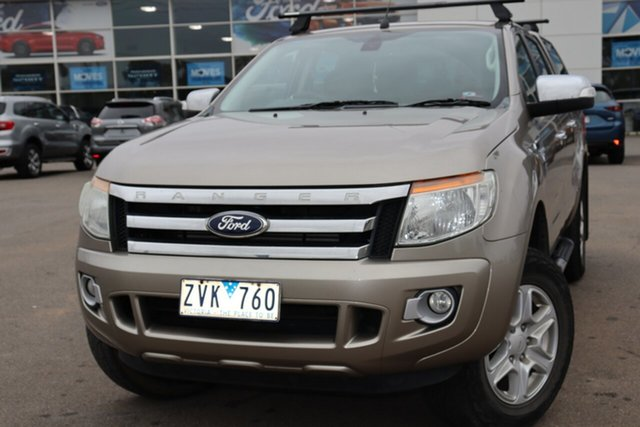 Used Ford Ranger PX XLT Double Cab, 2013 Ford Ranger PX XLT Double Cab Gold 6 Speed Sports Automatic Utility