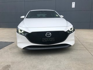 2020 Mazda 3 BP2HLA G25 SKYACTIV-Drive Astina Snowflake White 6 Speed Sports Automatic Hatchback.