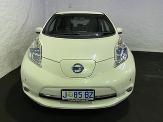 2013 Nissan Leaf ZE0 White 1 Speed Automatic Hatchback.