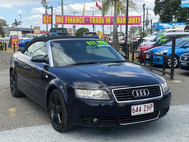 Used Audi A4 B6 MY05 Multitronic, 2005 Audi A4 B6 MY05 Multitronic Blue 1 Speed Constant Variable Cabriolet