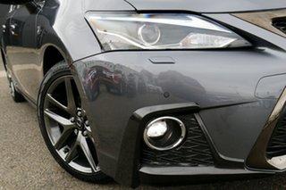 2017 Lexus CT ZWA10R CT200h F Sport Grey 1 Speed Constant Variable Hatchback Hybrid.