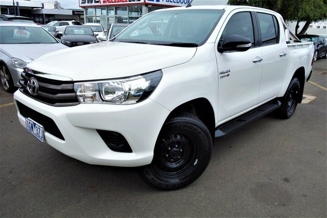 Used Toyota Hilux GUN136R SR Double Cab 4x2 Hi-Rider, 2015 Toyota Hilux GUN136R SR Double Cab 4x2 Hi-Rider White 6 Speed Sports Automatic Utility
