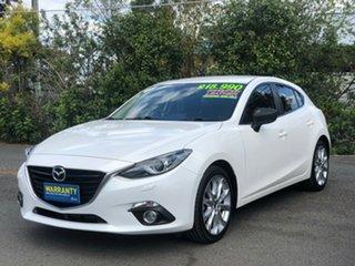 2014 Mazda 3 BM5438 SP25 SKYACTIV-Drive GT White 6 Speed Sports Automatic Hatchback