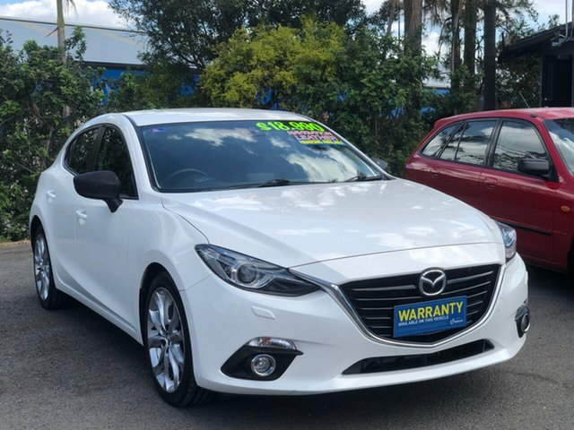 Used Mazda 3 BM5438 SP25 SKYACTIV-Drive GT, 2014 Mazda 3 BM5438 SP25 SKYACTIV-Drive GT White 6 Speed Sports Automatic Hatchback