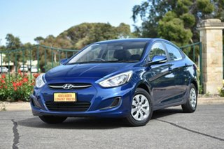 2016 Hyundai Accent RB3 MY16 Active Blue 6 Speed Constant Variable Sedan.