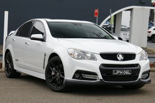 2014 Holden Commodore VF MY15 SS V Redline White 6 Speed Manual Sedan.