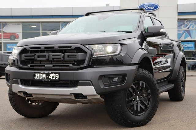 Used Ford Ranger PX MkIII 2020.25MY Raptor, 2019 Ford Ranger PX MkIII 2020.25MY Raptor Black 10 Speed Sports Automatic Double Cab Pick Up