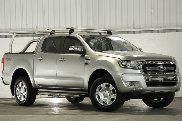 Used Ford Ranger PX MkII XLT Double Cab, 2016 Ford Ranger PX MkII XLT Double Cab Aluminium 6 Speed Sports Automatic Utility