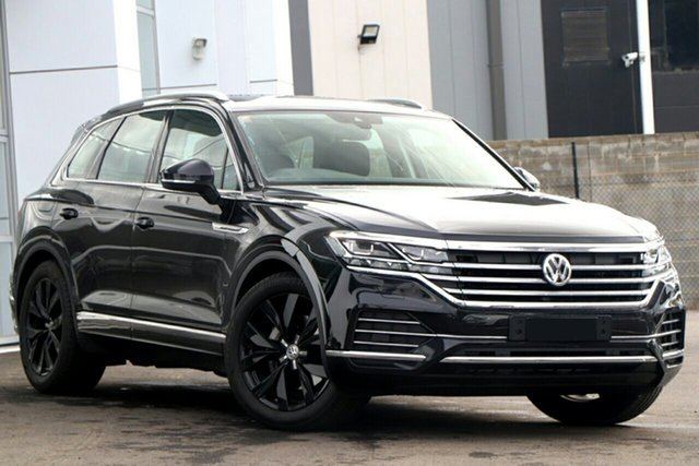 New Volkswagen Touareg CR MY20 190TDI Tiptronic 4MOTION Premium, 2020 Volkswagen Touareg CR MY20 190TDI Tiptronic 4MOTION Premium Black 8 Speed Sports Automatic