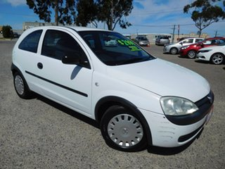2002 Holden Barina XC White 5 Speed Manual Hatchback.