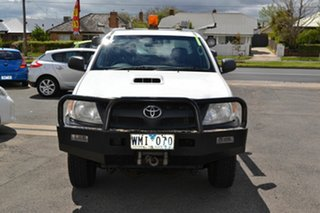 2008 Toyota Hilux KUN26R 08 Upgrade SR (4x4) White 5 Speed Manual X Cab Cab Chassis.