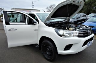 2015 Toyota Hilux GUN136R SR Double Cab 4x2 Hi-Rider White 6 Speed Sports Automatic Utility