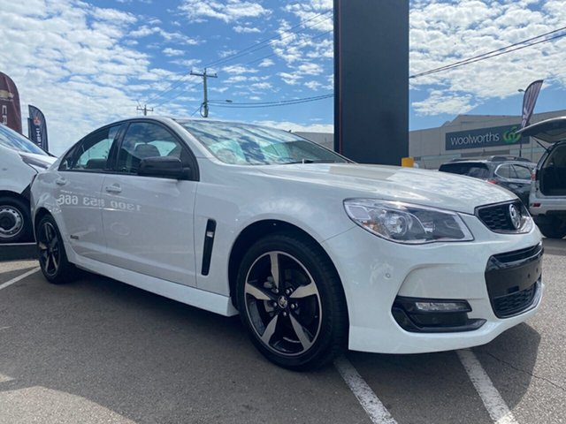 Used Holden Commodore VF II MY16 SV6 Black, 2016 Holden Commodore VF II MY16 SV6 Black White 6 Speed Sports Automatic Sedan