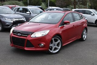 2013 Ford Focus LW MkII Titanium PwrShift Red 6 Speed Automatic Hatchback.