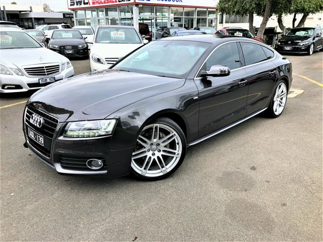 Used Audi A5 8T MY11 Sportback S Tronic Quattro Seaford, 2011 Audi A5 8T MY11 Sportback S Tronic Quattro Grey 7 Speed Sports Automatic Dual Clutch Hatchback