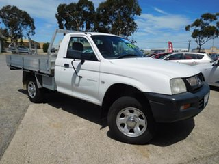 2005 Mitsubishi Triton MK MY05 GL 4x2 White 5 Speed Manual Cab Chassis.