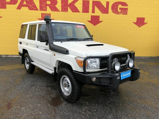 Used Toyota Landcruiser VDJ76R Workmate, 2015 Toyota Landcruiser VDJ76R Workmate White 5 Speed Manual Wagon