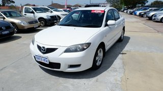 2007 Mazda 3 BK10F2 Maxx Sport White 5 Speed Manual Sedan.